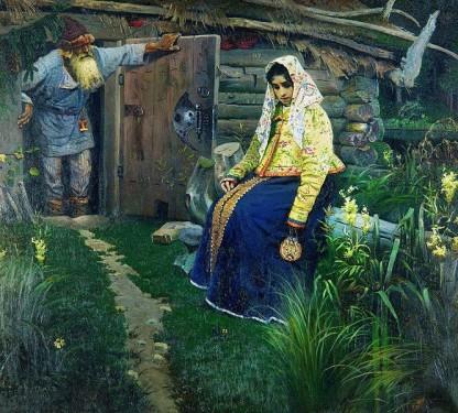Михаил Васильевич Нестеров. За приворотным зельем. 1888 год.