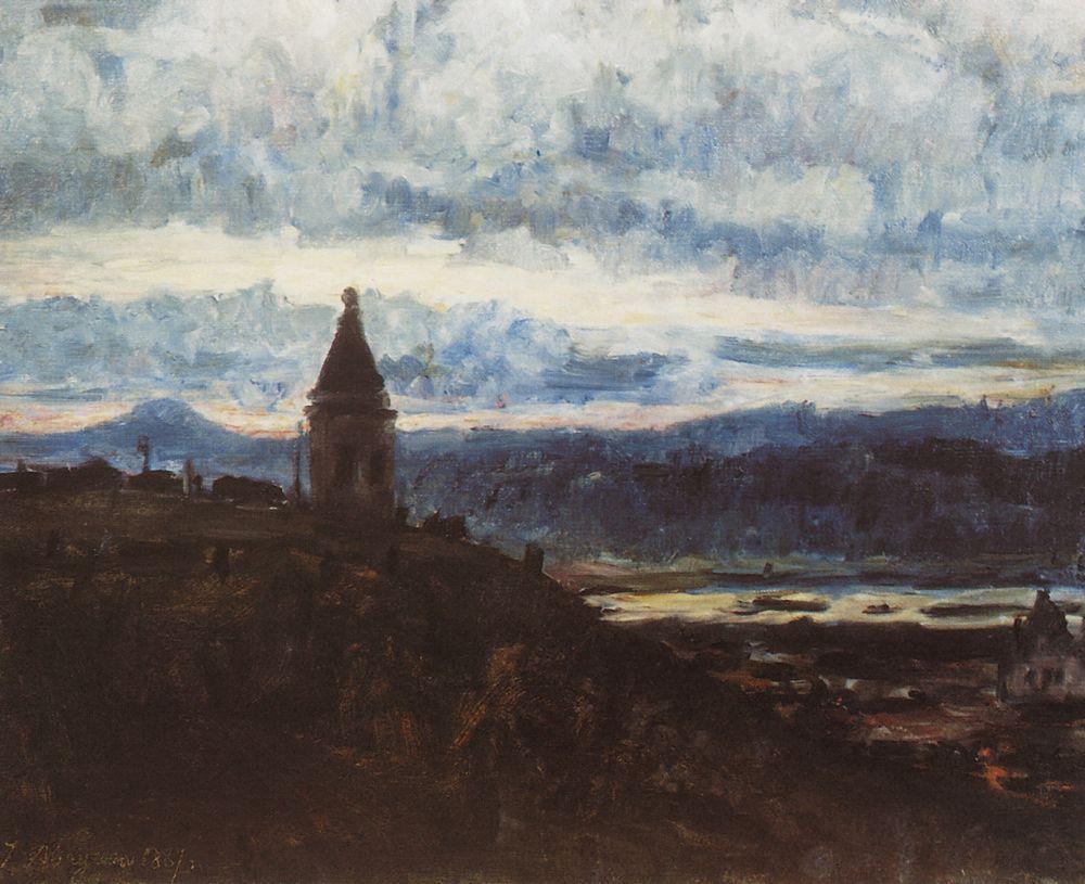 Вид Красноярска. 1887