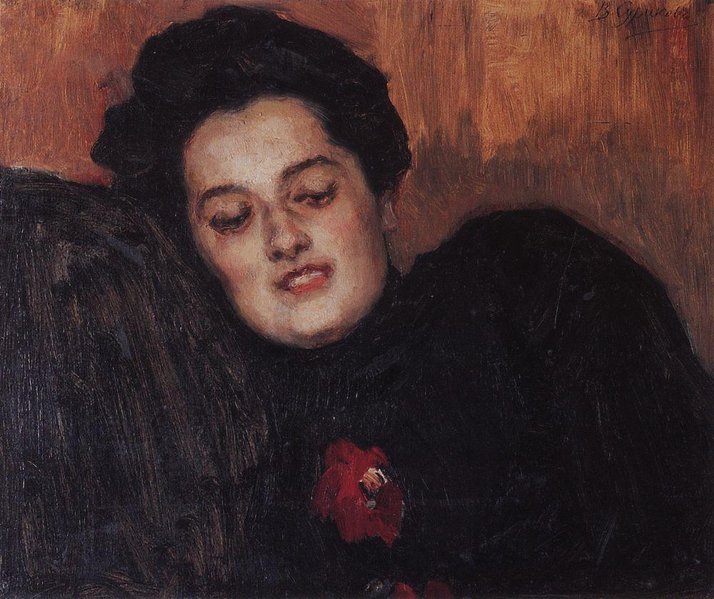 Портрет А.И.Емельяновой. 1909