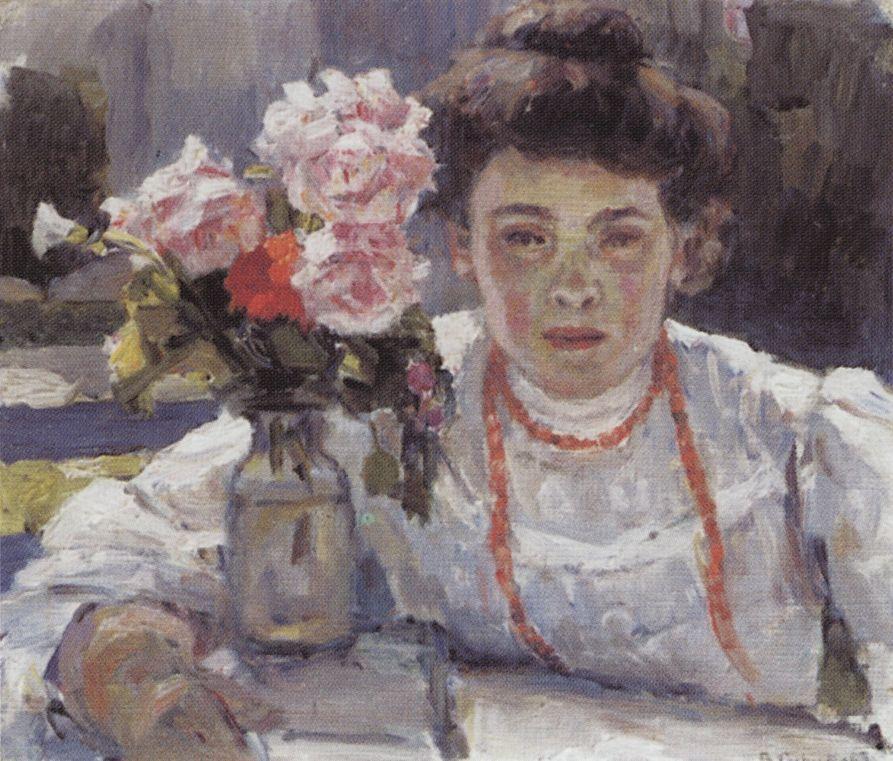Портрет Е.В.Суриковой. 1908