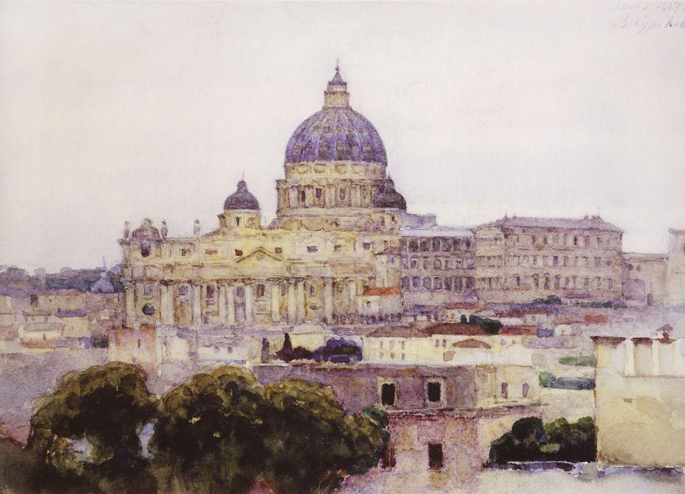 Собор Святого Петра в Риме. 1884