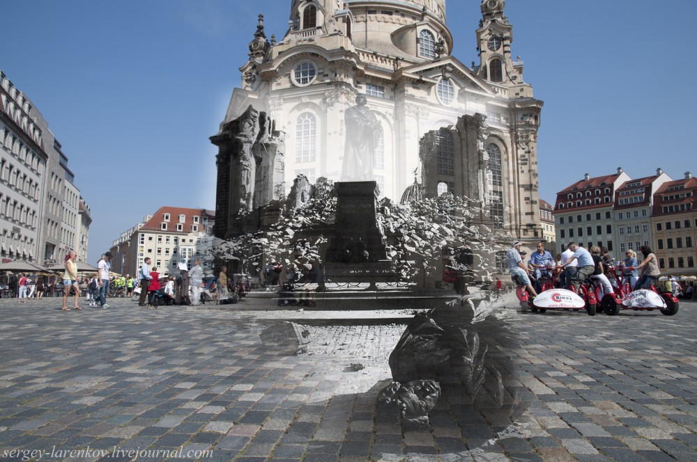 001.Дрезден 1945-2014 Церковь Фрауэнкирхе Frauenkirche