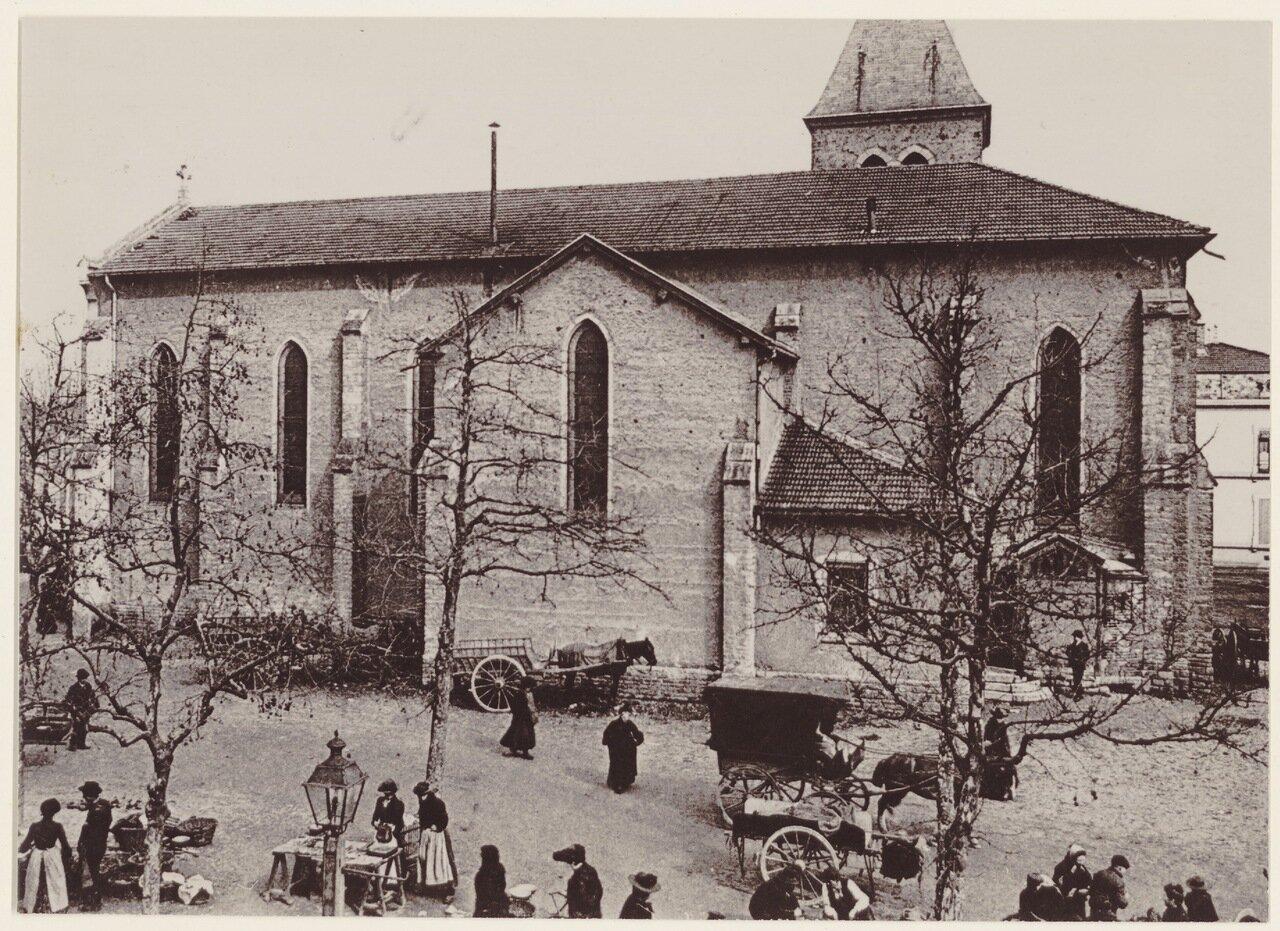 Церковь Сент-Мадлен и первый блошиный рынок в начале ХХ века