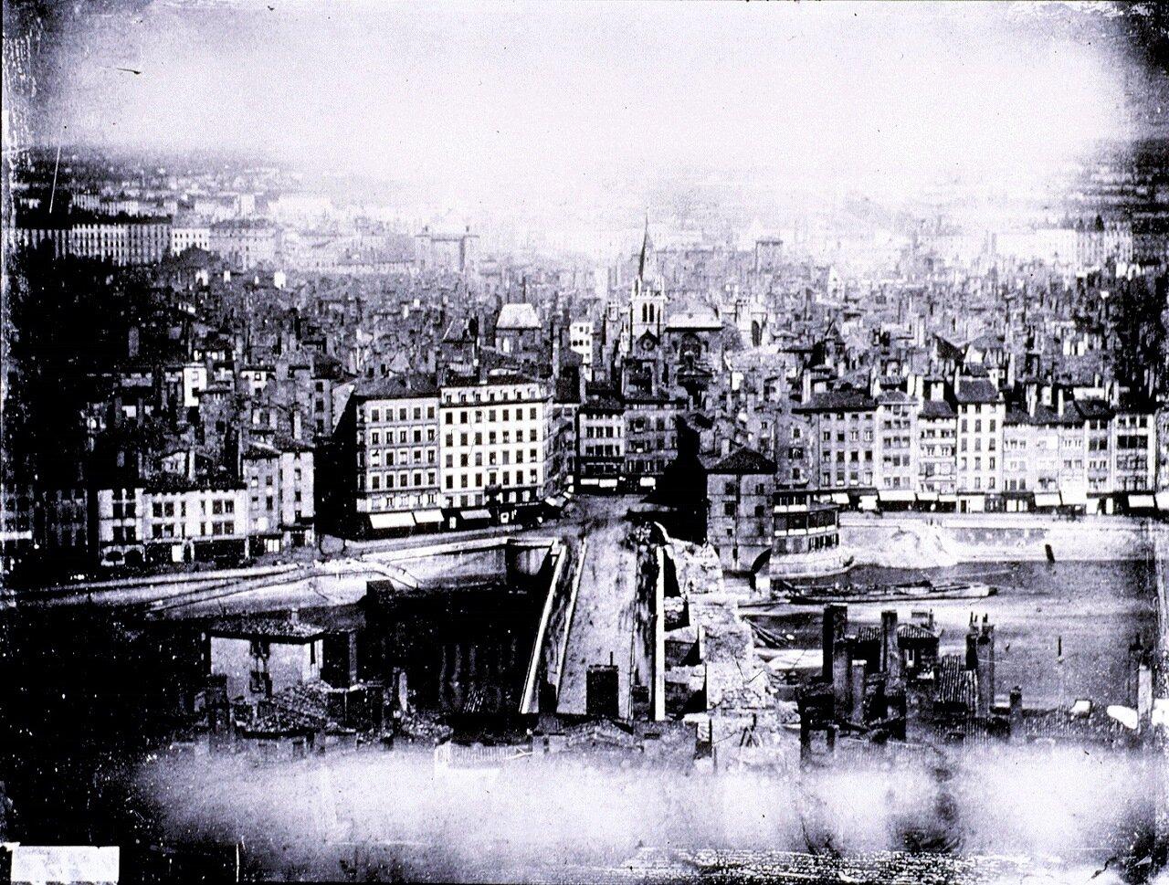 1859. Пон-де-Немур и завершение сноса моста Сен-Пьер.