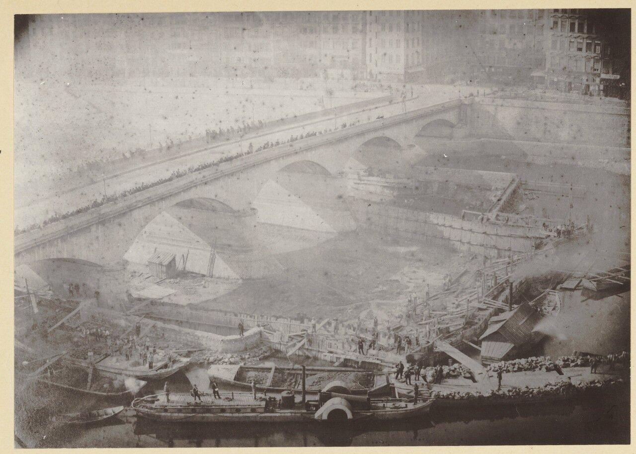 1860. Строительство моста