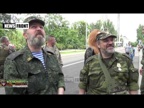 Торжественное открытие панно на пр. Ватутина в Донецке