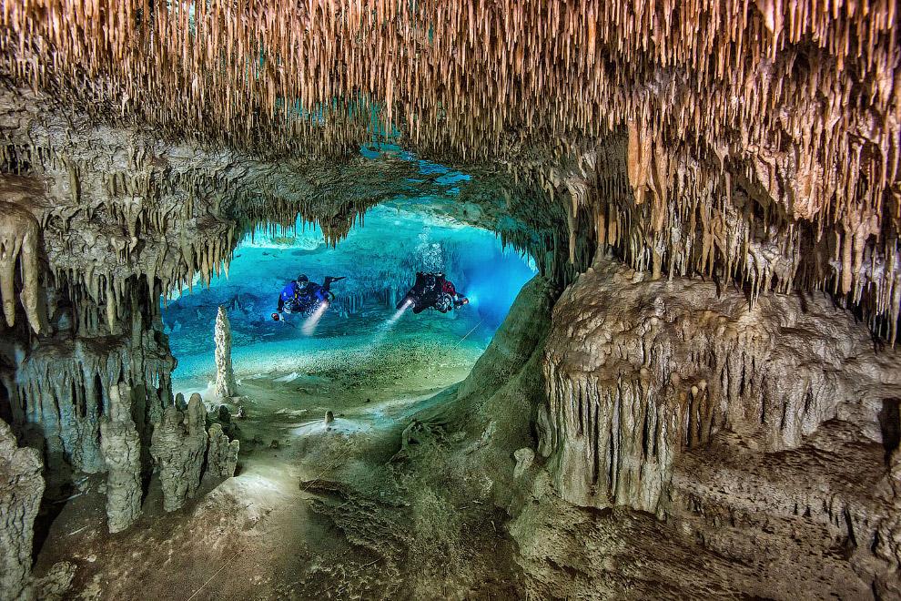 Сенот Нариз - это большая пещерная система в Юкатане