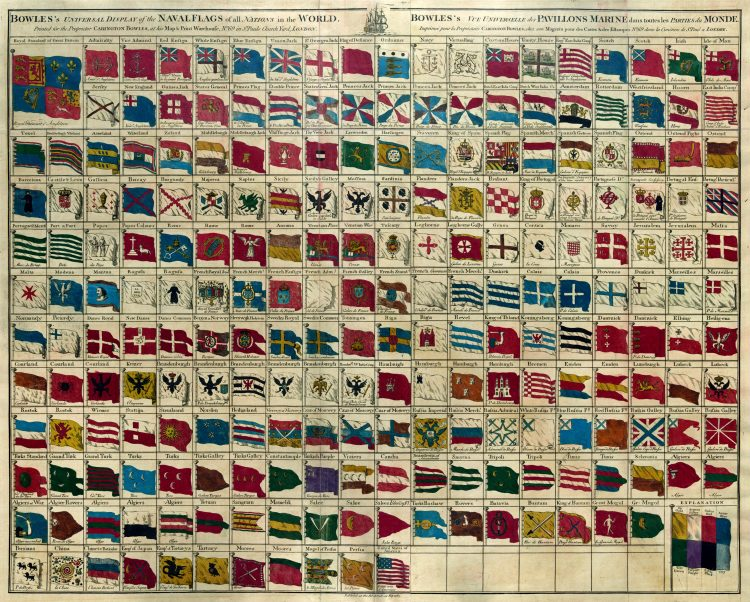 Bowles's universal display of the naval flags of all nations in the world