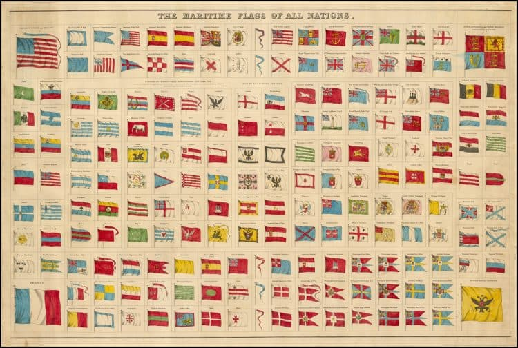 Lloyd, H.H. 1874 Flags and arms of the principal nations of the world