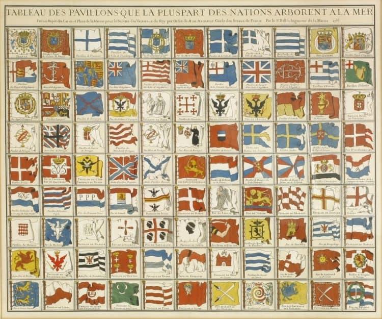 Tableau des Pavillons 1756
