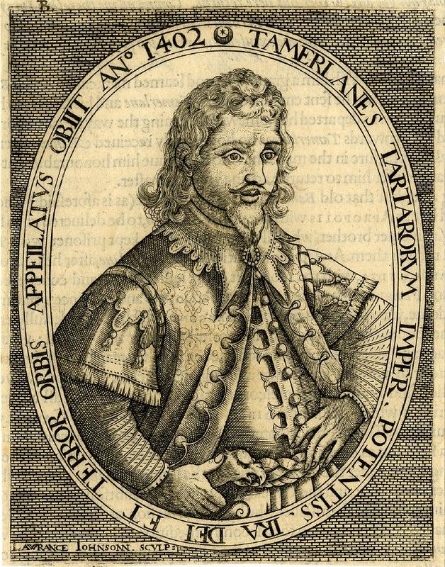 Tamerlanes tartarorum imperator potentiss ira dei et terror orbis appei latus obiit anno 1402