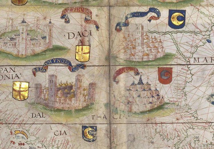 Фрагмент карты Европы из альбома Миллера 1519г.