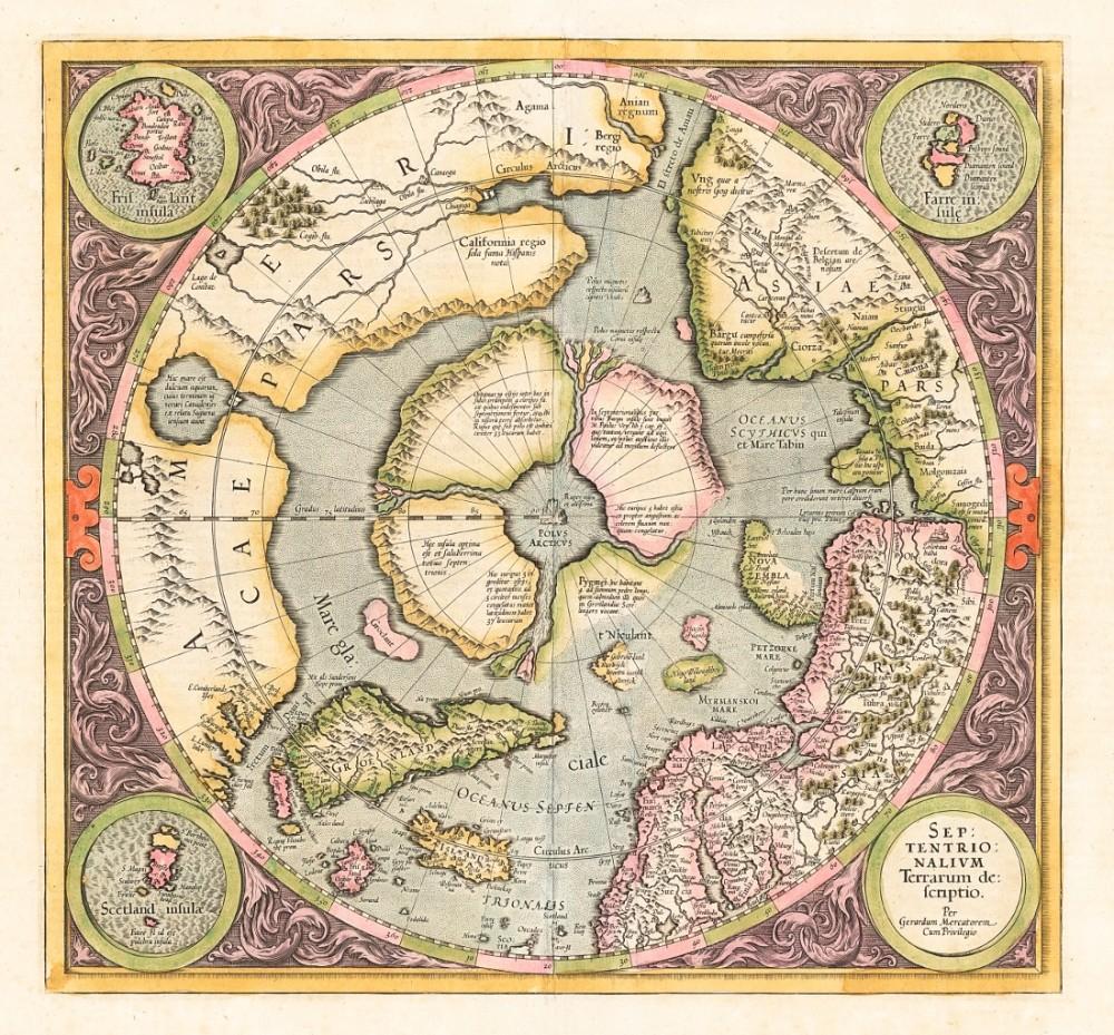 Карта Арктики 1595