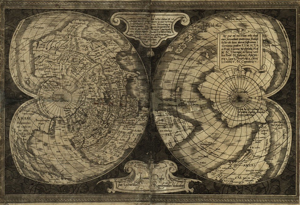 Карта Меркатора 1538