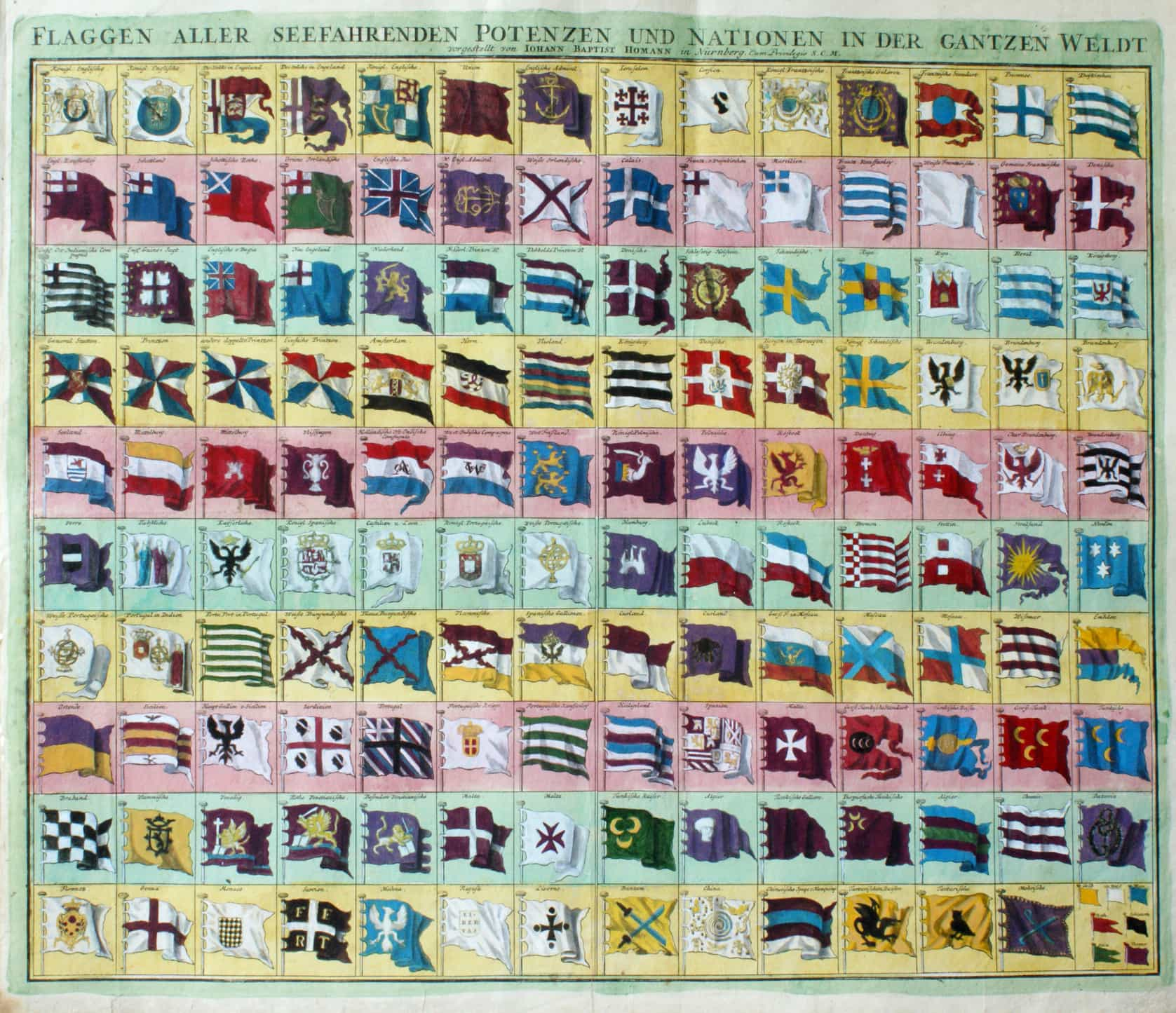 Flaggen alle seefahrenden Potenzen und Nationen