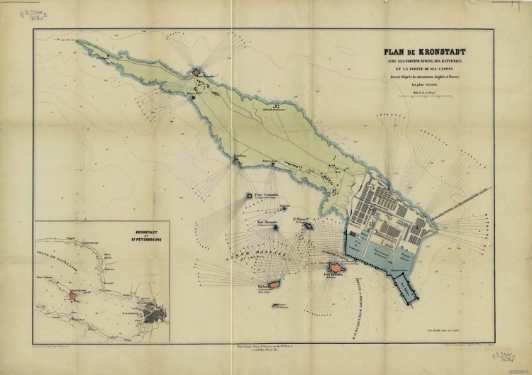 план Кронштадта