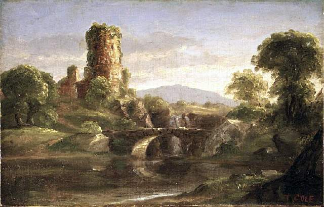 Brooklyn_Museum_-_Ruined_Castle_and_River_-_Thomas_Cole_-_overall
