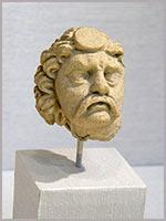 Голова мужчины. Гандхара. 2-4 в. н.э.
