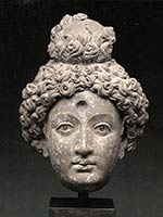Голова боддхисатвы. 2-3 вв н.э. Гандхара