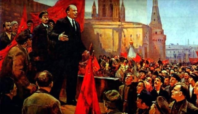 Дмитрий Налбандян. Выступление В.И. Ленина на Красной площади в 1919 году (фрагмент). 1970