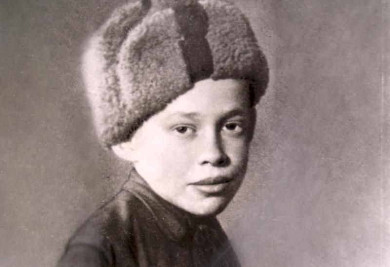 Юный партизан Александр Ульянов