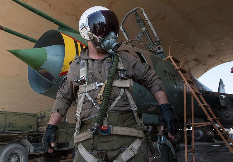 Су-22, подполковник ВВС Сирии Али Фахд, фото РИА Новости, Илья Питалев