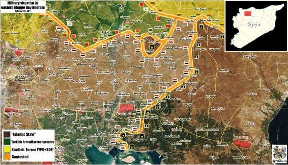 Жестокие бои Армии Сирии и турок в Алеппо: Силы ИГИЛ отброшены войсками (КАРТА, ФОТО 18+) | Русская весна