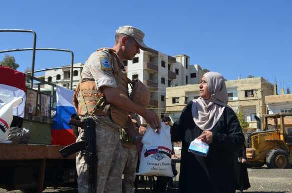 Российские военные спешат на помощь: Конвой Минобороны прибыл в бывший оплот боевиков под Дамаском (ФОТО) | Русская весна