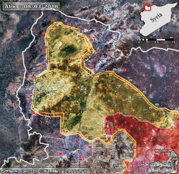 Жестокие бои в Алеппо: Турки и боевики ССА захватили один из крупнейших городов курдского Африна (ФОТО, КАРТА) | Русская весна