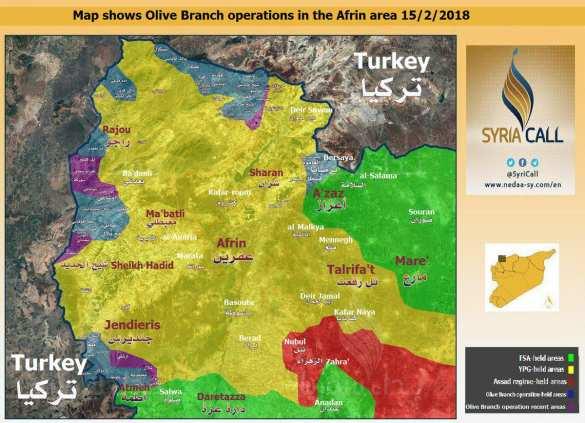 СРОЧНО: Курды и Дамаск договорились о вводе Армии Сирии в Африн, чтобы становить наступление Турции (КАРТА) | Русская весна