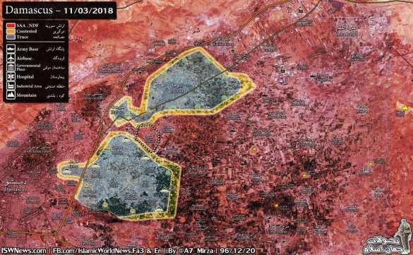 СРОЧНО: Котёл в Дамаске разрезан на 2 части, «Тигры» взяли штурмом крепость боевиков (КАРТА) | Русская весна