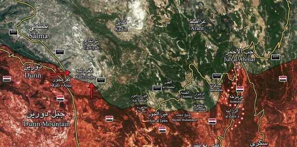 Сирия: тяжелые боиидут заДжуб аль-Ахмар (ВИДЕО, карта) | Русская весна