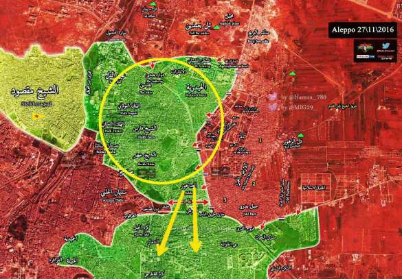 МОЛНИЯ: Боевики бегут, котел в Алеппо почти разрезан на 2 части (КАРТА, ФОТО) | Русская весна