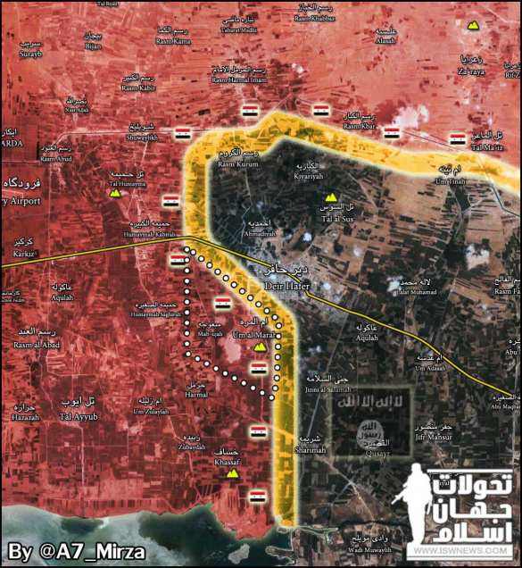 ВАЖНО: «Тигры» при поддержке ВКС РФ с боями вышли на окраину последней цитадели ИГИЛ, защищающей путь в Ракку (КАРТА) | Русская весна