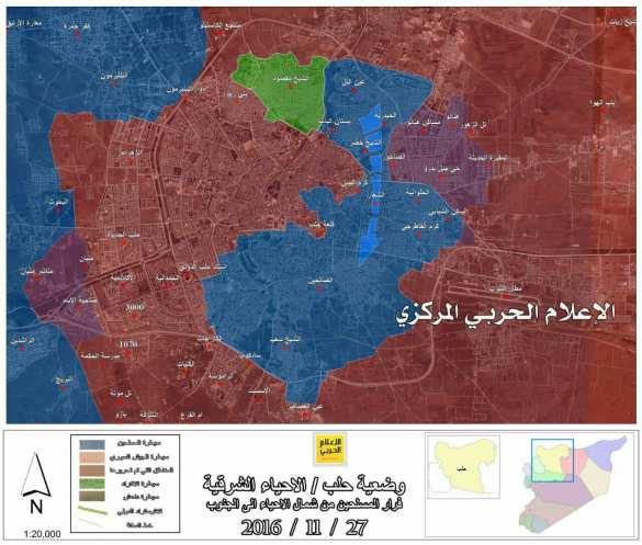 СРОЧНО: боевики оставили четверть Восточного Алеппо поднатиском Армии Сирии (КАРТА) | Русская весна