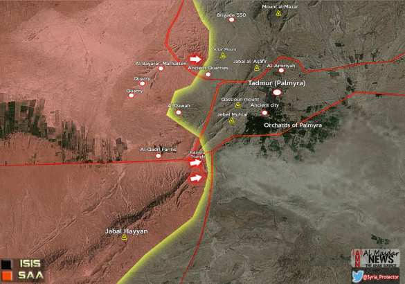 ВАЖНО: «Тигры» и САА освободили «Пальмирский треугольник» при поддержке ВКС России, уничтожены 30 боевиков ИГИЛ (КАРТА+ФОТО) | Русская весна