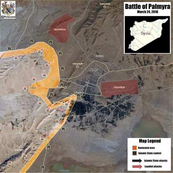 Битва за Пальмиру: «Тигры» и САА наступают на ИГИЛ при поддержке ВКС России — подробности операции (ФОТО+КАРТА) | Русская весна