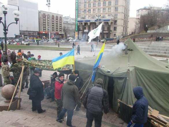 Участники Третьего Майдана продолжают оставаться вцентре Киева (ФОТО, ВИДЕО) | Русская весна