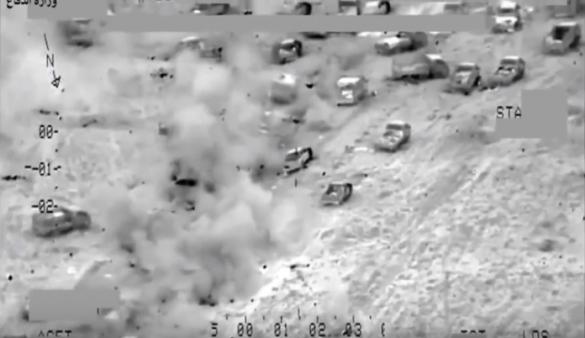 Впечатляющие кадры: Ми-28 и Ми-35 уничтожили большой конвой ИГИЛ (ВИДЕО)   Русская весна