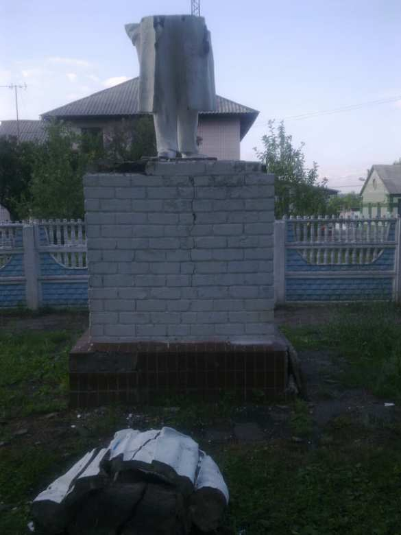 В Харьковской области распилили Ленина (ФОТО) | Русская весна