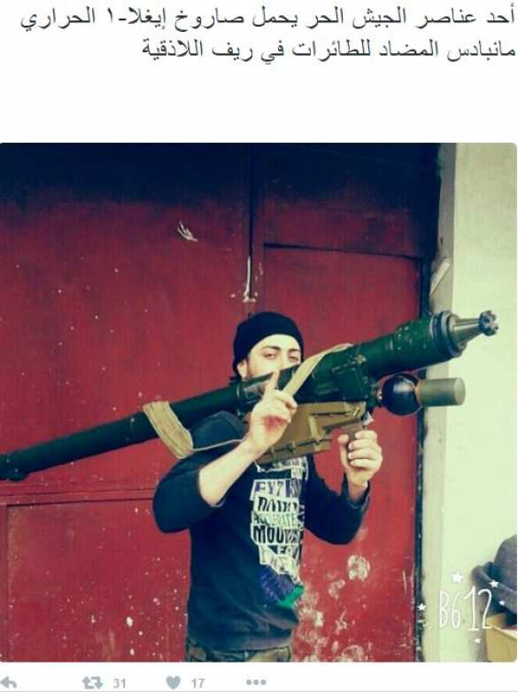 Боевики собрались сбивать самолеты в Сирии? — ПЗРК «Игла-1» на кадре НВФ в Латакии (ФОТО) | Русская весна