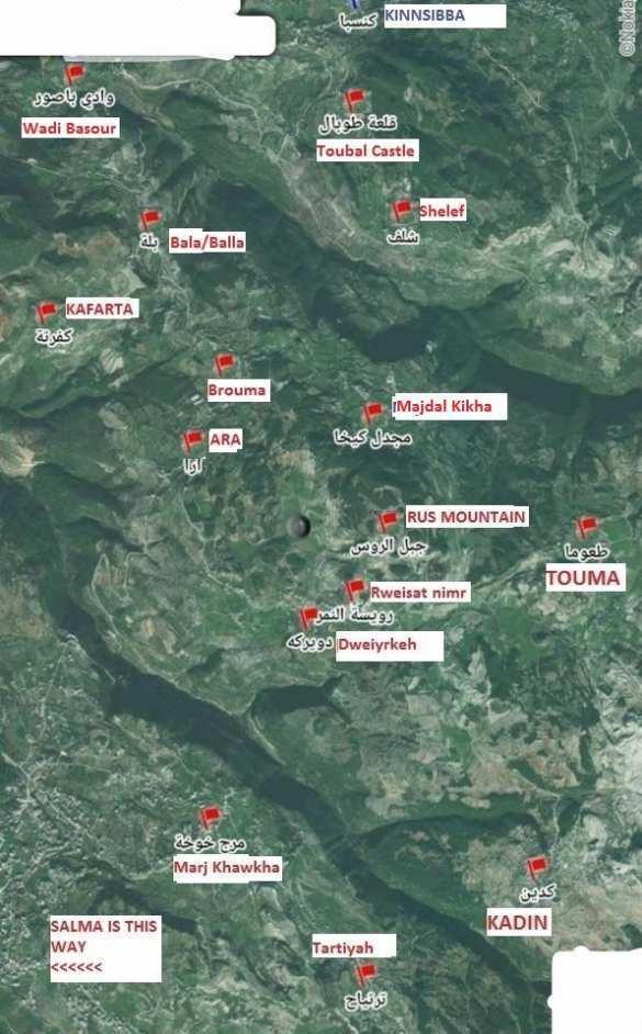 МОЛНИЯ: сирийские войска ведут штурм горной крепости террористов — Кинсиббы, взят Замок Тубал (КАРТА) | Русская весна