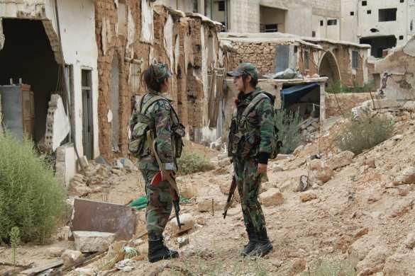 Девушки-снайперы сирийской армии на фронте в пригороде Дамаска (ФОТО) | Русская весна