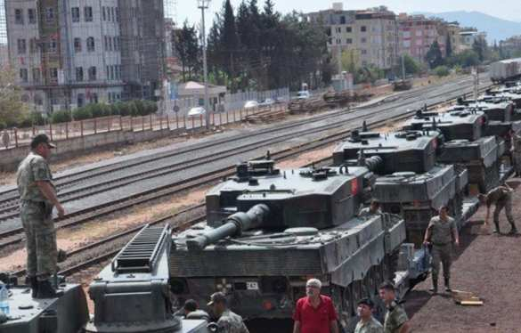 Турецкие танковые колонны готовятся вторгнуться в Сирию (ФОТО) | Русская весна
