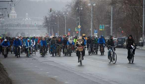 ВМоскве в30-градусный мороз прошел велопарад (ФОТО, ВИДЕО) | Русская весна