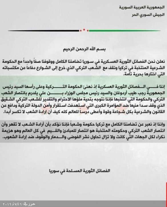 Сирийские террористы поздравили Эрдогана с победой (ФОТО) | Русская весна
