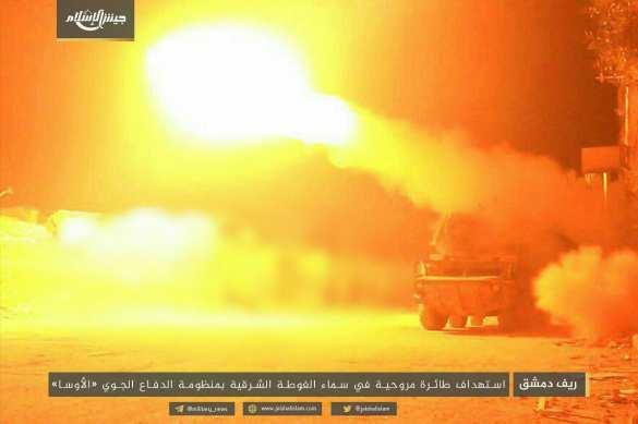 МОЛНИЯ: Ракета ЗРК «Оса» поразила военный вертолёт под Дамаском (+ВИДЕО, ФОТО) | Русская весна