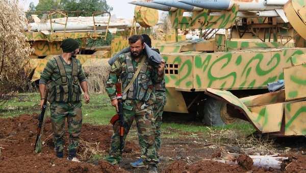 Армия Сирии штурмует позиции боевиков впоселке аль-Иис наюгеАлеппо   Русская весна
