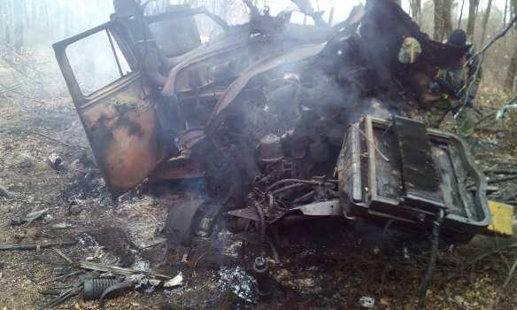 На мине подорвался автомобиль с продуктами для карателей на Донбассе, трое ранены (ФОТО) | Русская весна