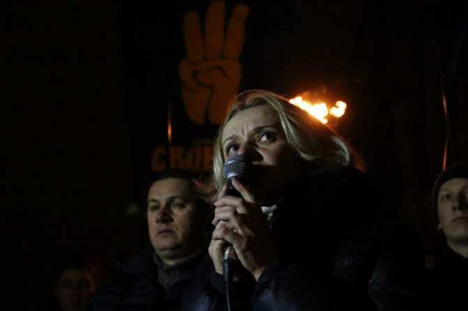 Националистка Фарион «воскресла» во время факельного шествия во Львове, украинцы пожелали ей «гореть в аду» (фото) | Русская весна
